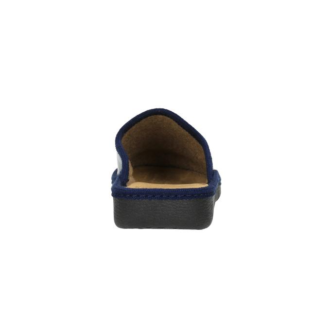 Pánská domácí obuv s uzavřenou špicí bata, modrá, 871-9304 - 17