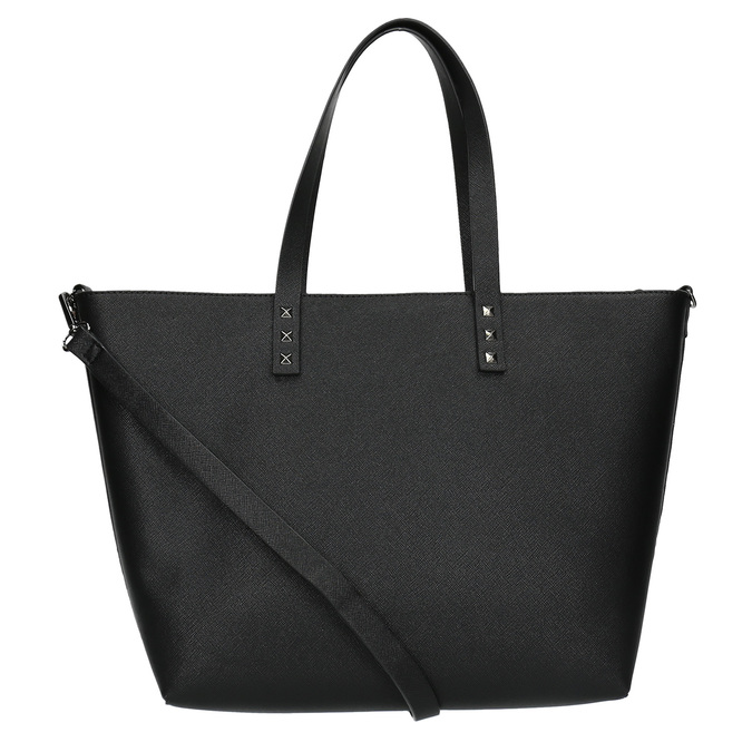 Shopper kabelka s pevným dnem bata, černá, 961-6647 - 26