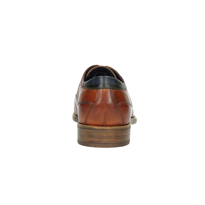 Pánské kožené polobotky bugatti, hnědá, 824-3012 - 17