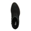 Kožené kotníčkové kozačky na širokém podpatku gabor, černá, 794-6014 - 19