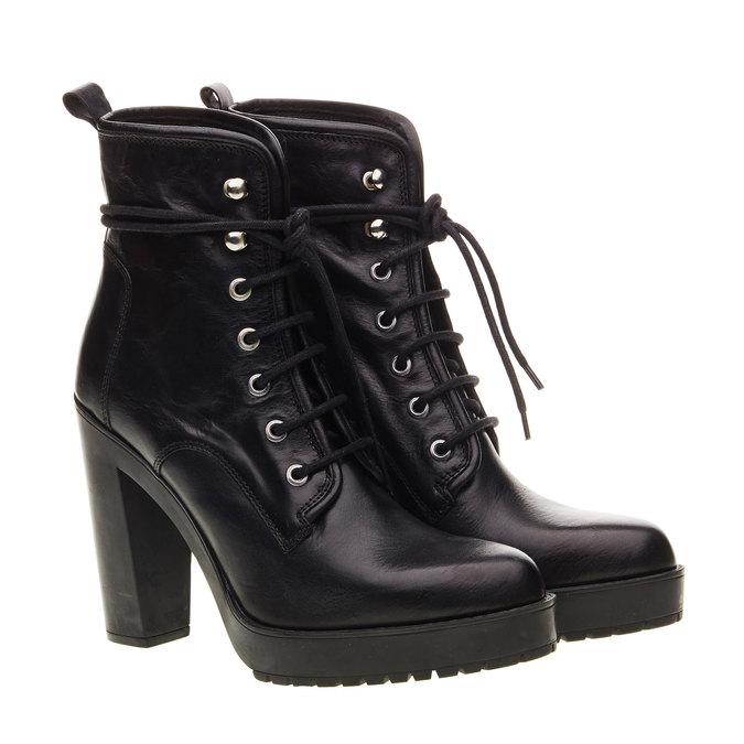 Kožená kotníčková obuv diesel, černá, 794-6141 - 26