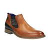 Kožená kotníčková obuv se zateplením bugatti, hnědá, 814-3003 - 13
