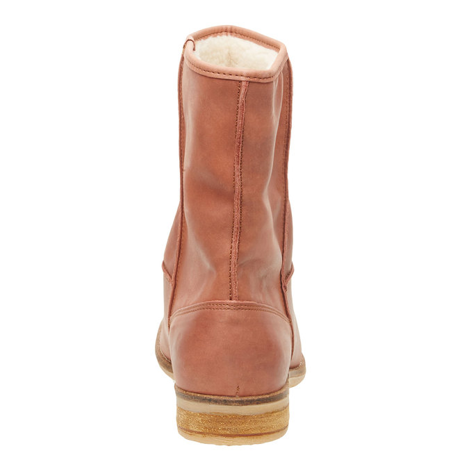 Kožená kotníčková obuv bata, hnědá, 596-4105 - 17