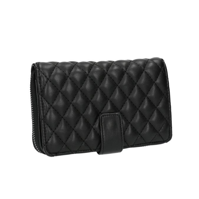 Dámská prošíváná peněženka bata, černá, 941-6135 - 13
