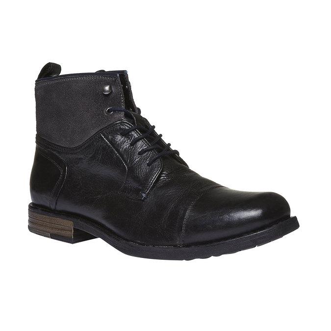 KOŽENÁ KOTNÍČKOVÁ OBUV bata, černá, 894-6112 - 13