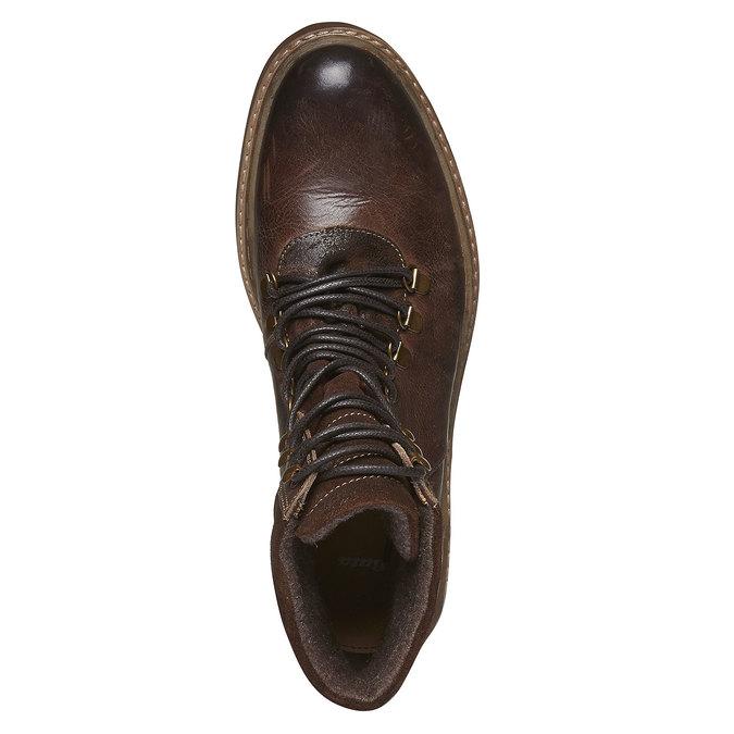 Kotníkové zimní boty šněrovací bata, hnědá, 894-4109 - 19