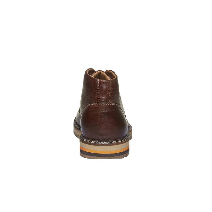 Kožené kotníkové Desert Boots bata, hnědá, 894-3114 - 17