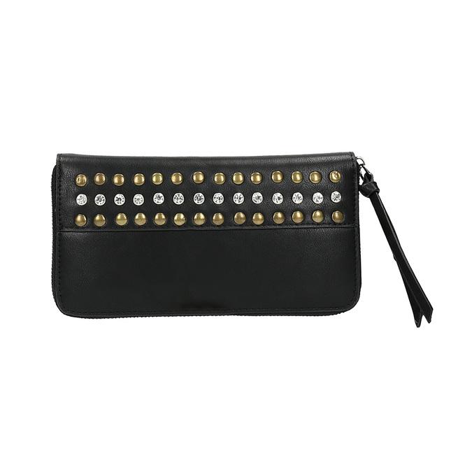 Dámská peněženka s cvočky bata, černá, 941-6140 - 26