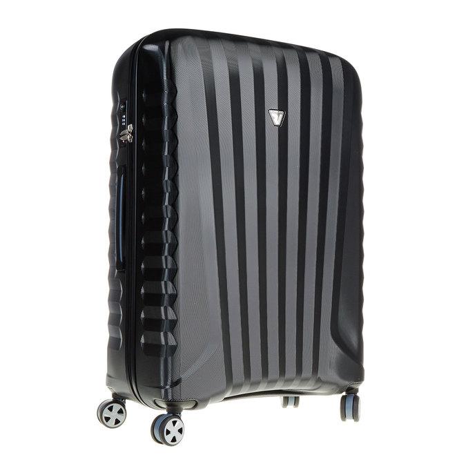 Černý cestovní kufr na kolečkách roncato, černá, 960-6600 - 13