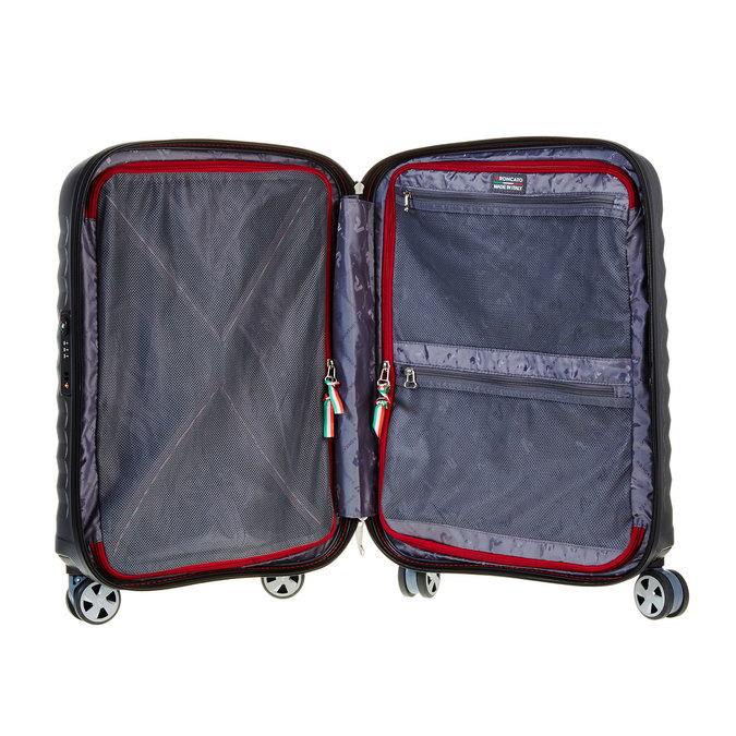 Černý cestovní kufr na kolečkách roncato, černá, 960-6602 - 15