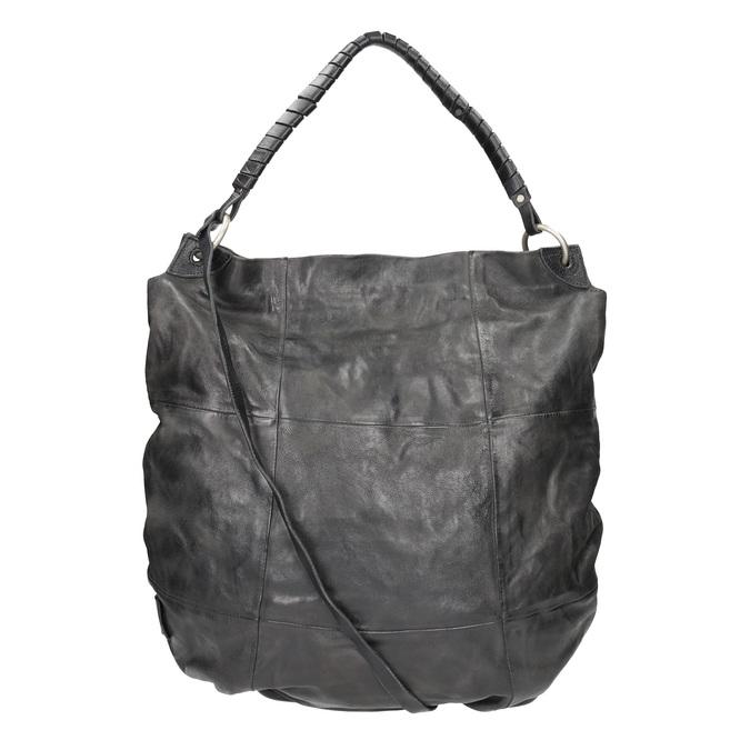 Kožená kabelka a-s-98, černá, 966-6022 - 19