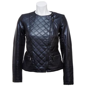 Dámská bunda s šikmým zipem bata, černá, 971-6186 - 13