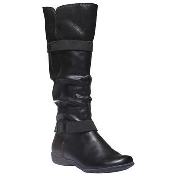 Dámské kozačky bata, černá, 591-6109 - 13