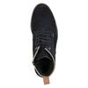 Kotníčková kožená obuv bata, modrá, 893-9651 - 19