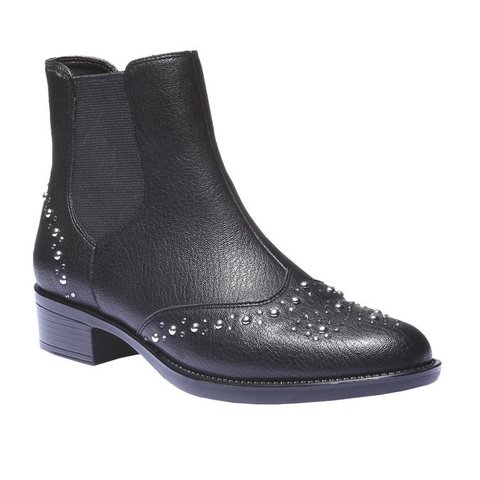 Kotníčková obuv v Chelsea střihu bata, černá, 591-6296 - 13