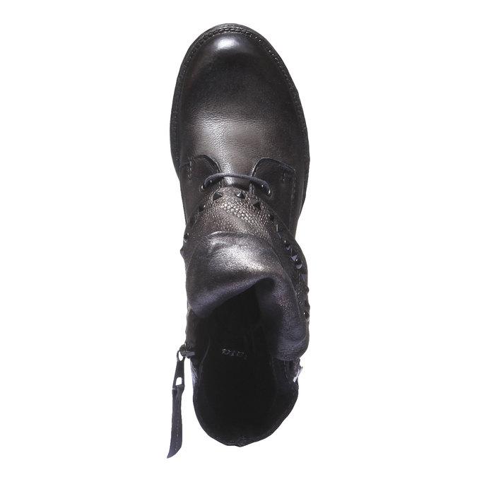 Kožená kotníčková obuv bata, šedá, 596-2104 - 19