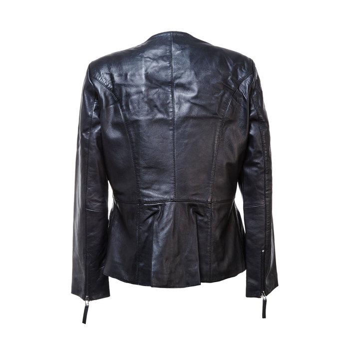 Dámská kožená bunda černá bata, černá, 974-6173 - 26