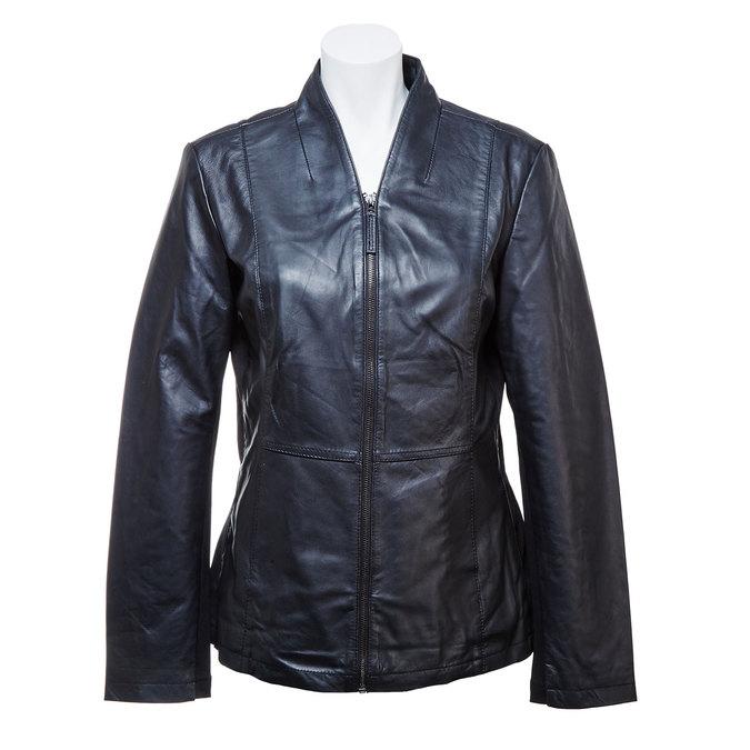 Dámská kožená bunda bata, černá, 974-6174 - 13
