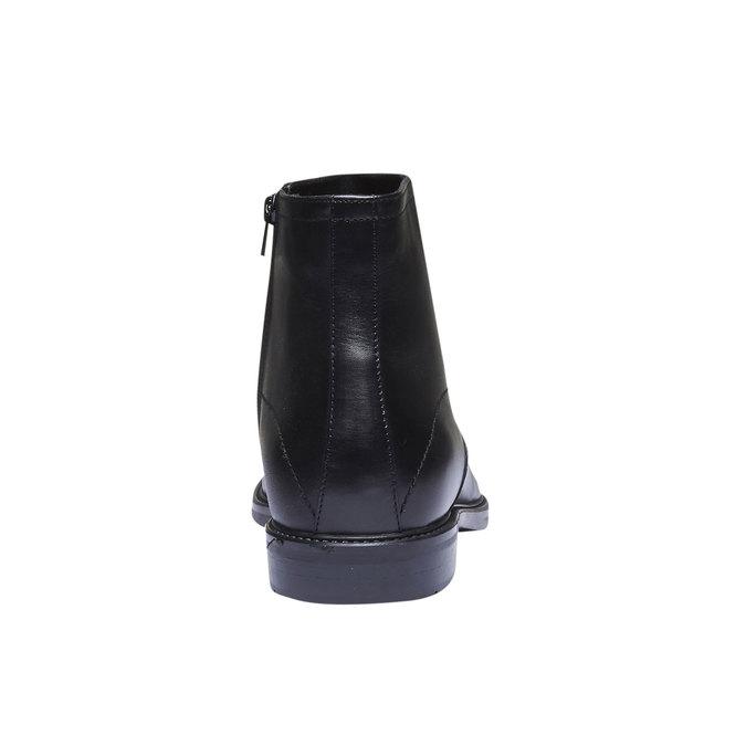Kožené kotníčkové boty bata, černá, 894-6257 - 17