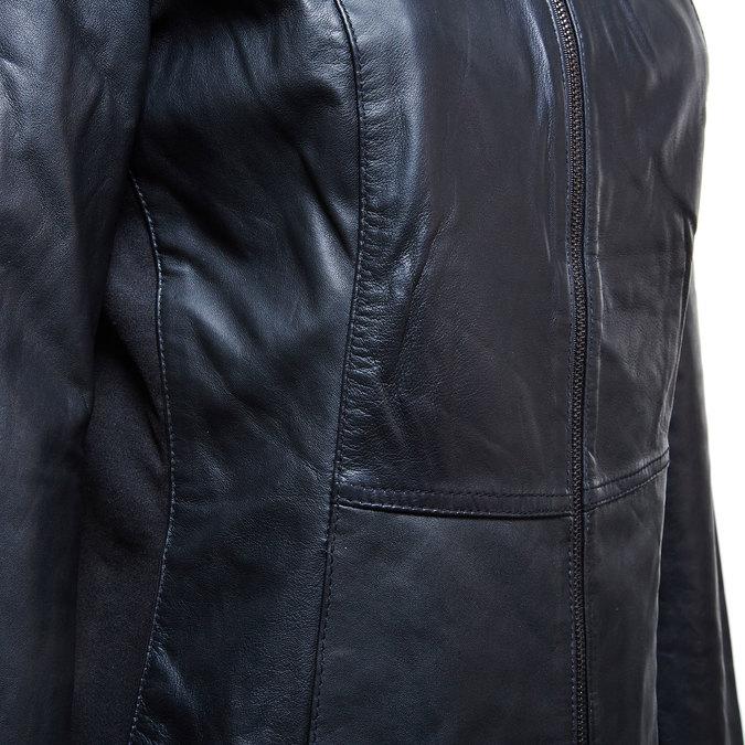 Dámská kožená bunda bata, černá, 974-6174 - 16