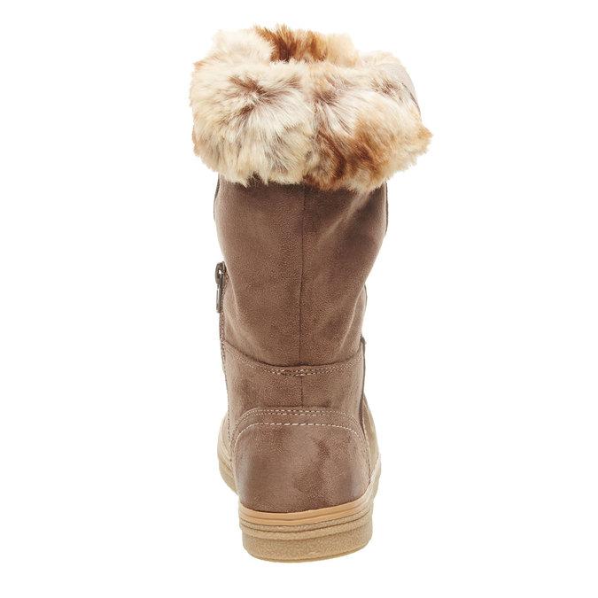 Kožená kotníčková obuv bata, béžová, 593-2104 - 17