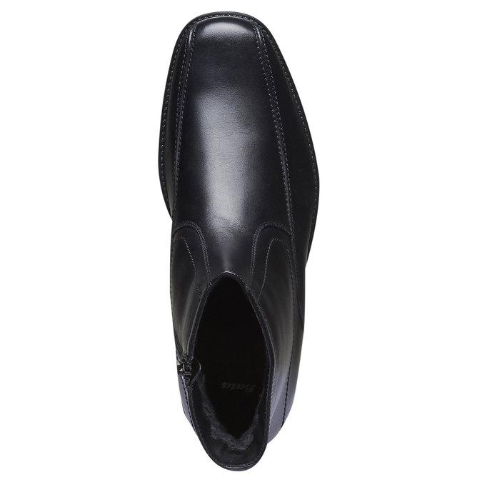 Kožené kotníčkové boty bata, černá, 894-6257 - 19