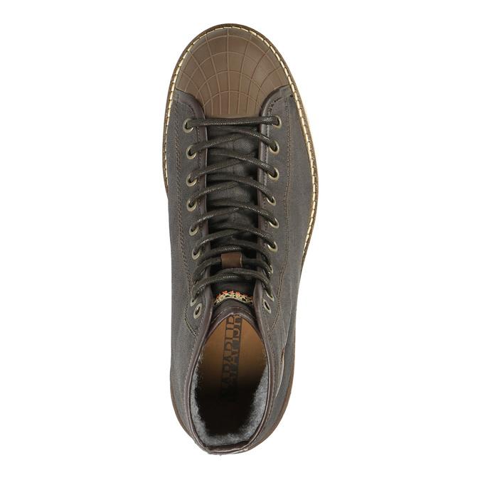 Pánská zimní obuv na výrazné podešvi napapijri, hnědá, 899-4002 - 19