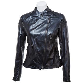 Dámská kožená bunda se zipy bata, černá, 974-6162 - 13