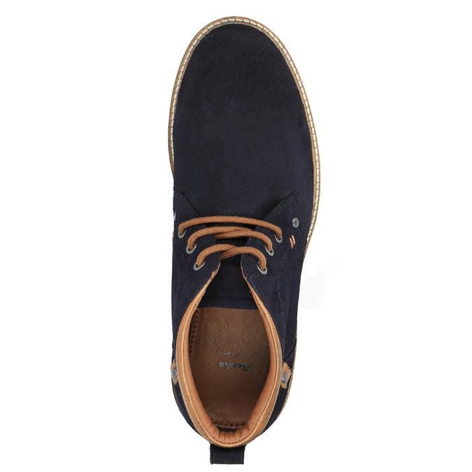 Pánská obuv ve stylu Chukka Boots bata, modrá, 893-9652 - 19