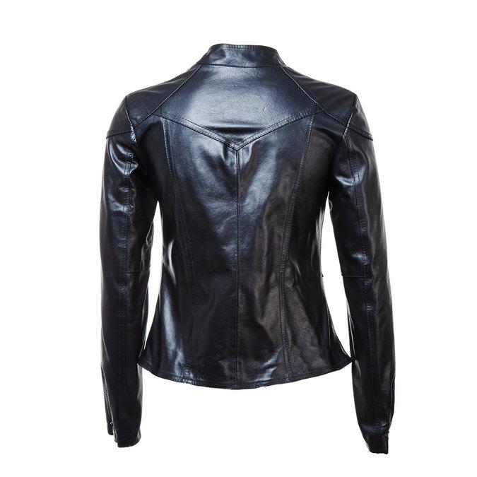 Dámská kožená bunda se zipy bata, černá, 974-6162 - 26