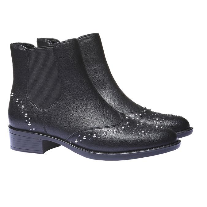 Kotníčková obuv v Chelsea střihu bata, černá, 591-6296 - 26