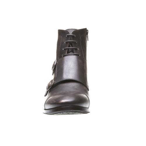 Kožené kotníčkové polobotky bata, hnědá, 894-4646 - 16
