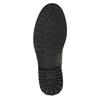 Kožená kotníčková obuv na výrazné podešvi bata, šedá, 893-2650 - 26