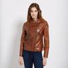 Dámská kožená bunda se zipy bata, hnědá, 974-3162 - 13