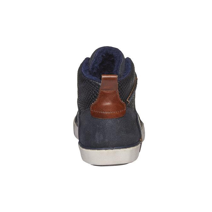 Kožené kotníkové tenisky se zateplením bata, fialová, 894-9127 - 17