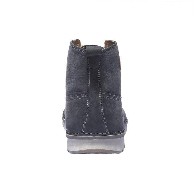 Kožená obuv na šněrování weinbrenner, fialová, 896-9340 - 17
