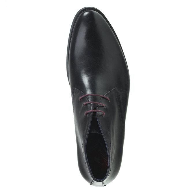 Kožená kotníčková obuv fluchos, černá, 894-6122 - 19