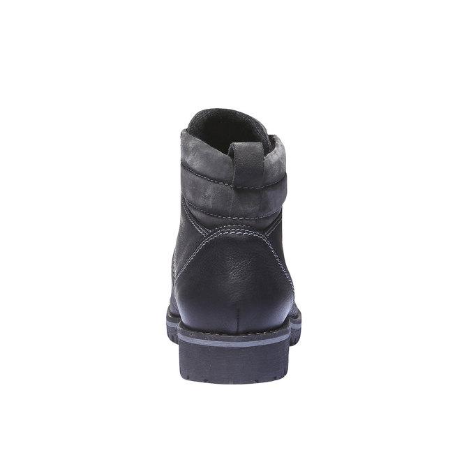 Kožená kotníčková obuv bata, černá, 894-6343 - 17