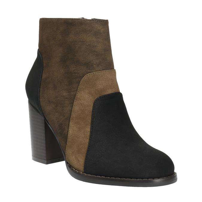 Kotníčková obuv na širokém podpatku bata, hnědá, 799-3612 - 13