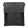 Kožená Crossbody taška s klopou picard, černá, 964-6026 - 26