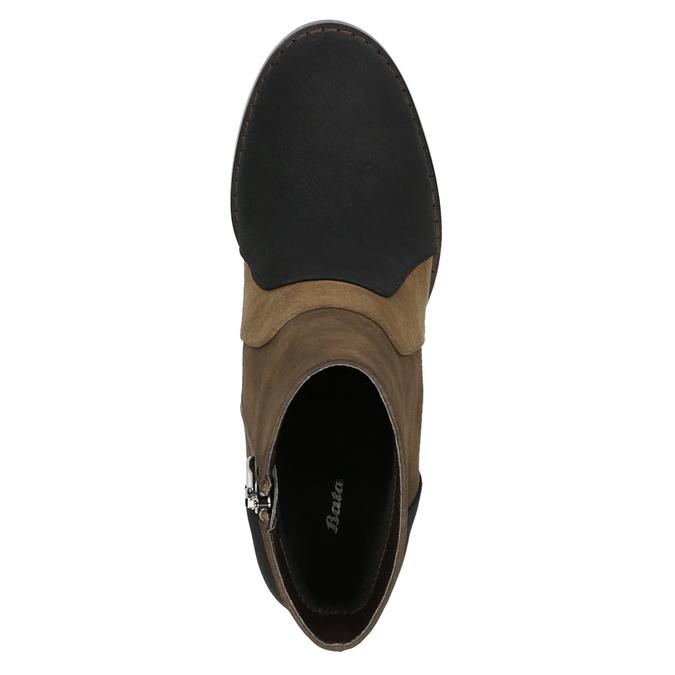 Kotníčková obuv na širokém podpatku bata, hnědá, 799-3612 - 19