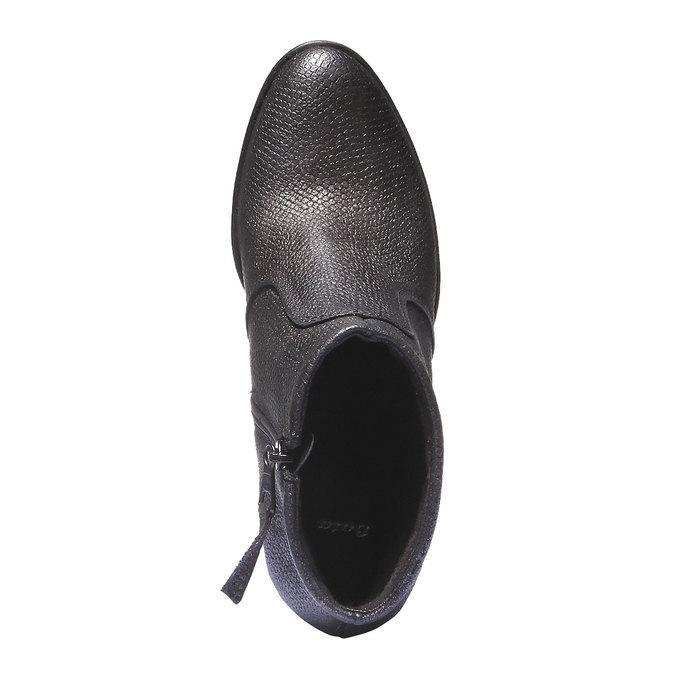 Kožené kotníčkové boty bata, šedá, 796-2107 - 19