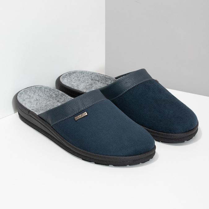 Pánská domácí obuv bata, modrá, 879-9600 - 26