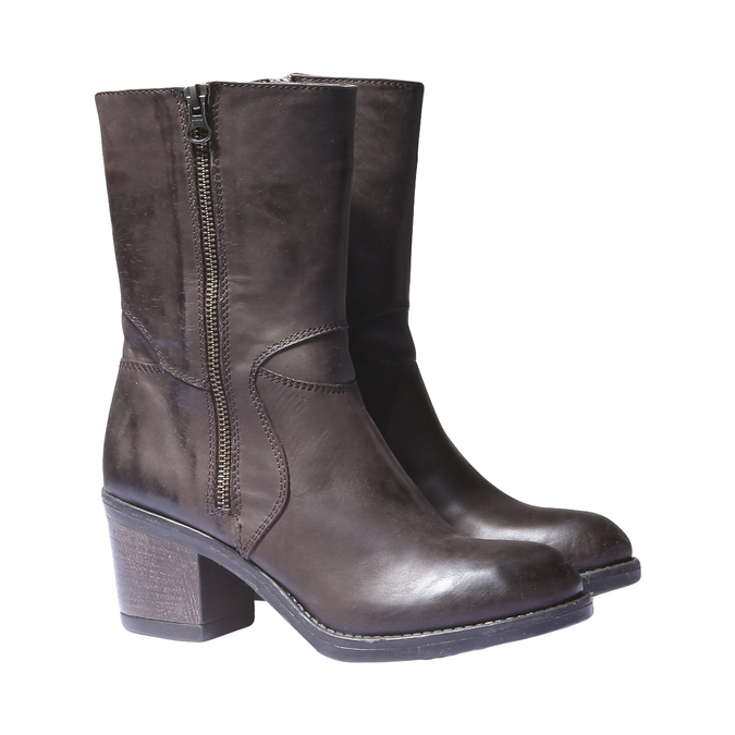Kožená zimní obuv bata, hnědá, 794-4259 - 26