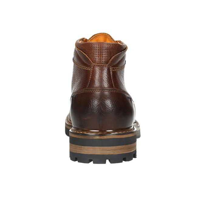 Pánská zimní kožená obuv bata, hnědá, 894-3672 - 17