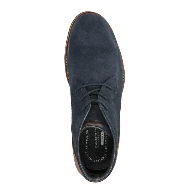 Kotníčková obuv z broušené kůže rockport, modrá, 826-9001 - 19