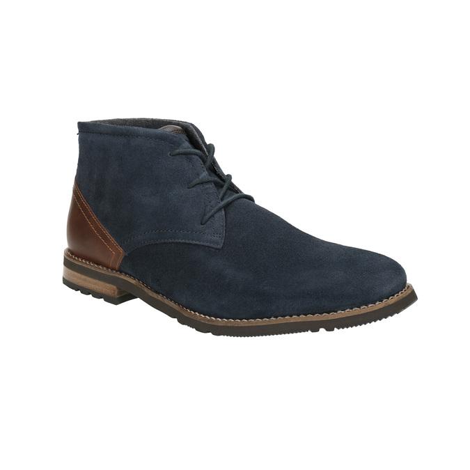 Kotníčková obuv z broušené kůže rockport, modrá, 826-9001 - 13