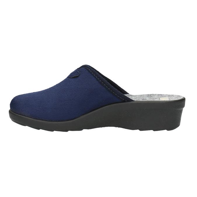 Dámská domácí obuv bata, modrá, 579-9602 - 26