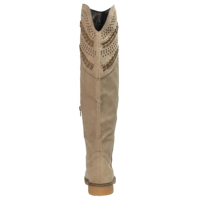 Kozačky nad kolena bata, béžová, 599-2602 - 17
