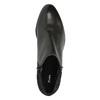 Kožená kotníčková obuv na nízkém podpatku bata, černá, 696-6613 - 19